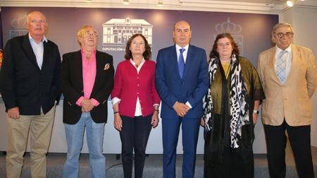 Los integrantes del Jurado: Jesús Coterón, José Oneto; Marisa Ciriza, José Manuel Latre, María Teresa del Val y Jesús Picatoste