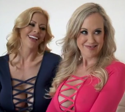 Alexis Fawx and Brandi Love cleavage