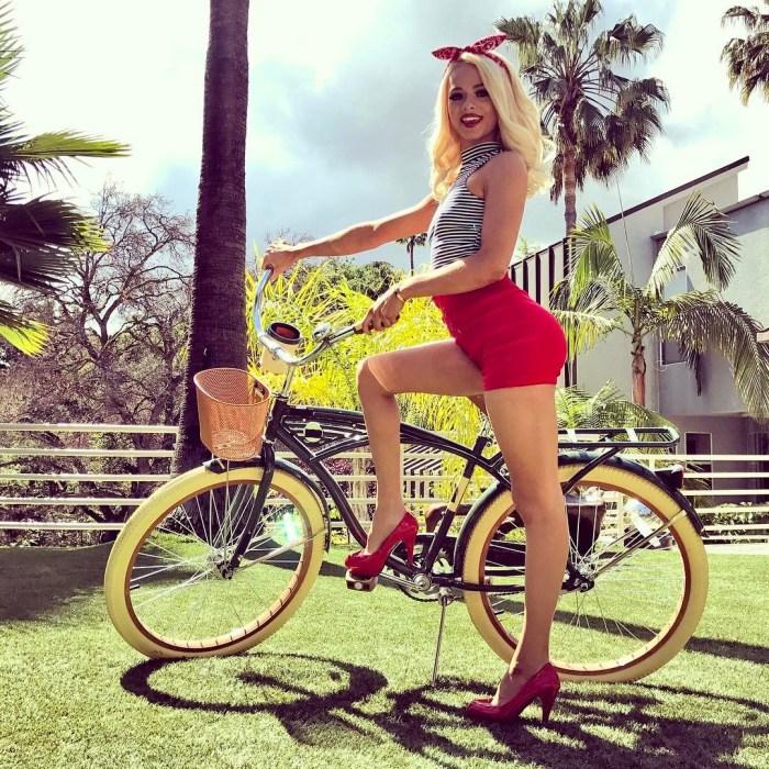 Elsa Jean riding a bike