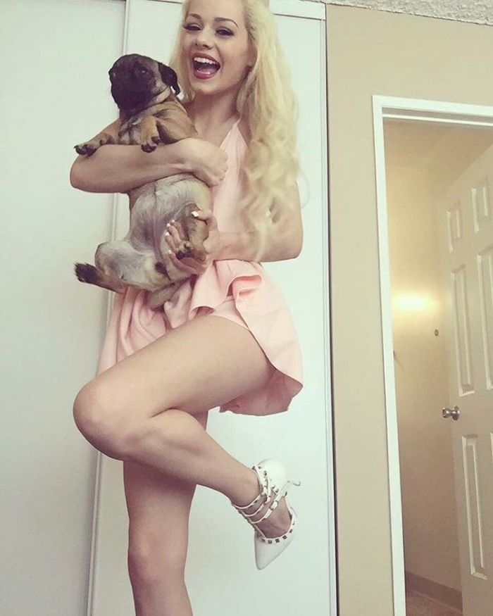 Elsa Jean with her dog