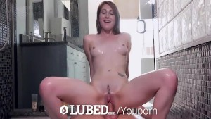 Exercise freak Nina Skye trembles fucking in the shower