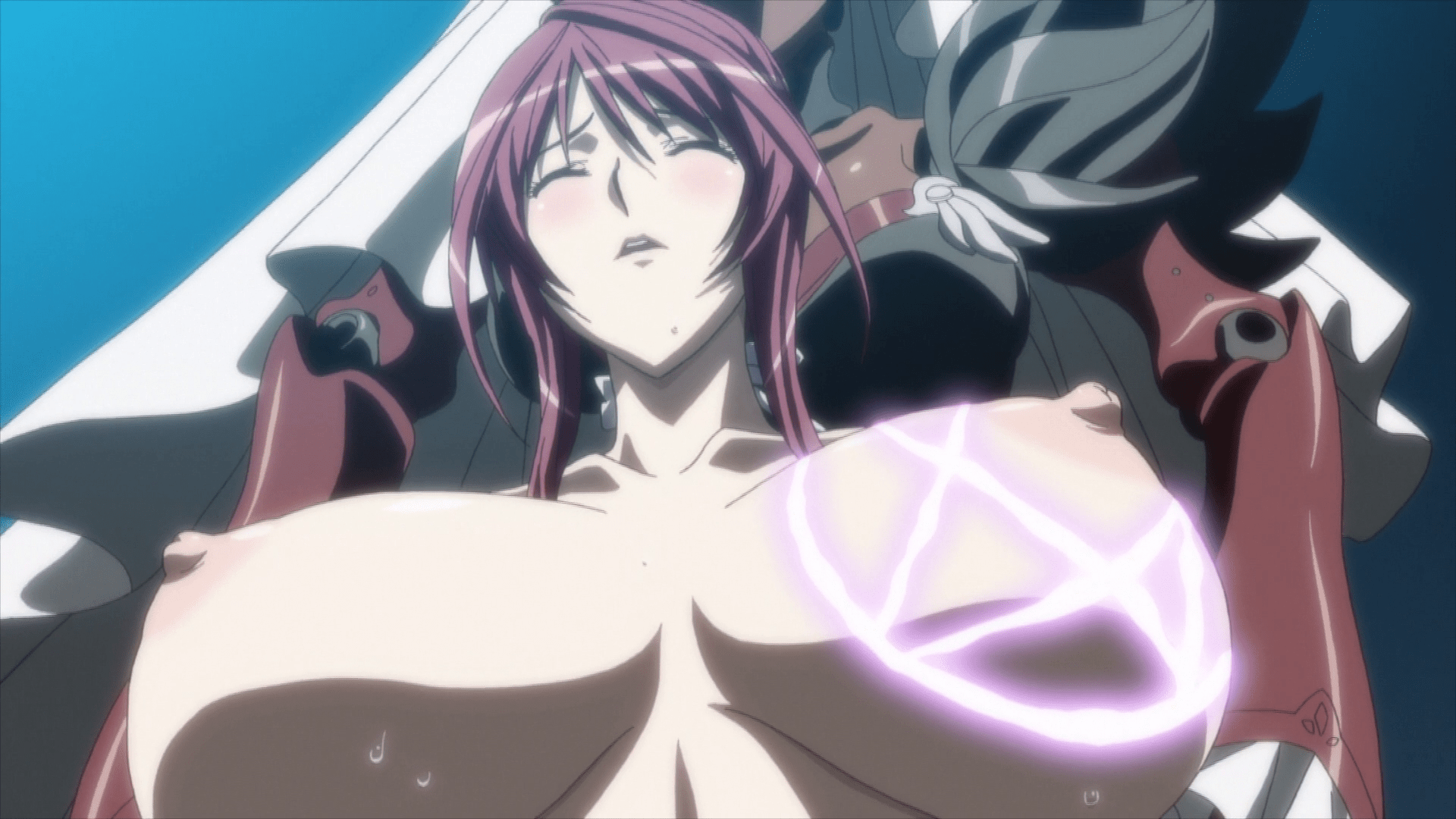 In episode 21, best girl Mafuyu gets a breast enlargement by absorbing milk  from women all over the world. The scene is animated beautifully, ...
