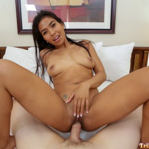 Cock riding Asian Girls Love White Cock