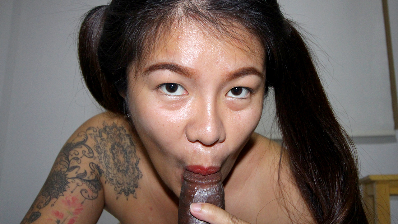 Fanta Asian Thai Pigtail Blowjob for BBC