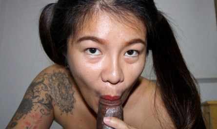Fanta Asian Thai Pigtail Blowjob for BBC