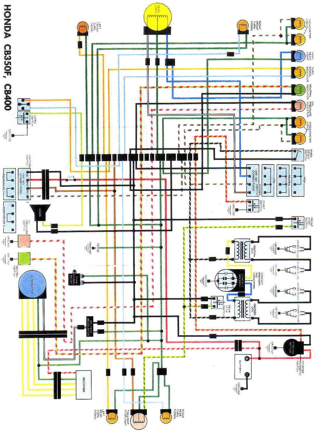 CB350F_CB400WiringDiag?resize=665%2C910 suzuki bandit wiring diagram the best wiring diagram 2017 Basic Electrical Wiring Diagrams at reclaimingppi.co