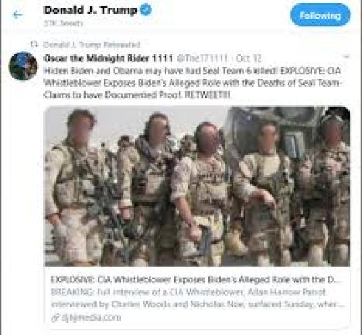 POTUS retweeted whistleblower accounts re Benghazi and Seal Team 6 - (We)  Are The News