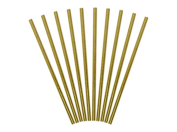 """Straws """"Golden"""" for Kid's Birthday Party 