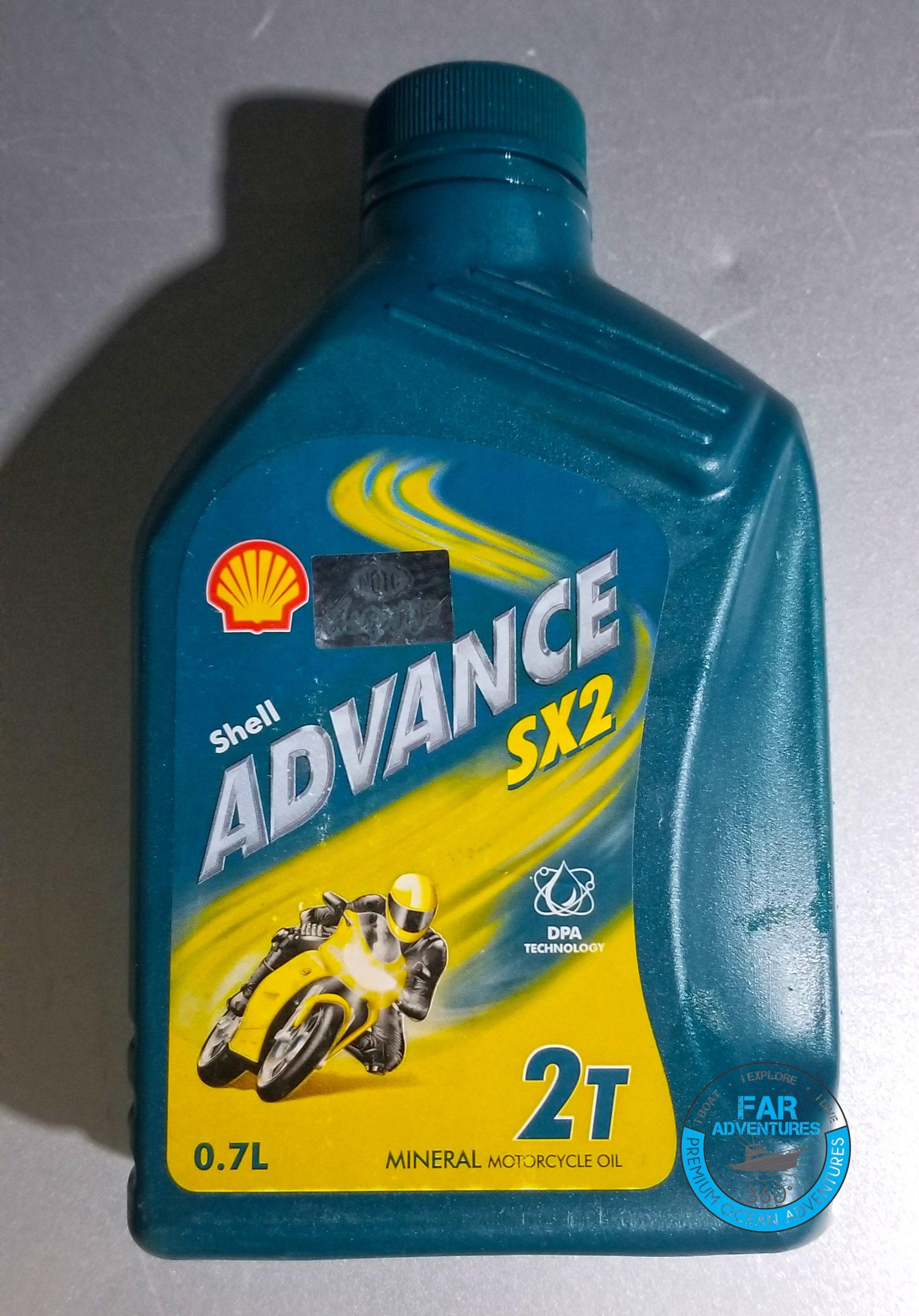 Shell Advance SX2 2T Marine Mineral Engine Oil