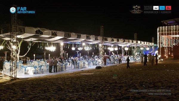 Beach Wedding Engagement Party Karachi