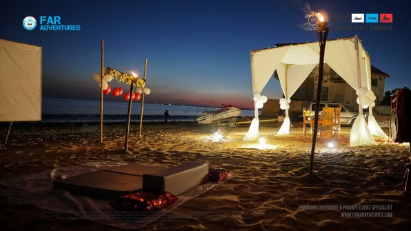 Private Tropical Beach Party | Sunset Boating, Camping, Dinner, Movie Night
