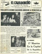 TERREMOTO DE CARACAS EL CARABOBEÑO 29 07 1967