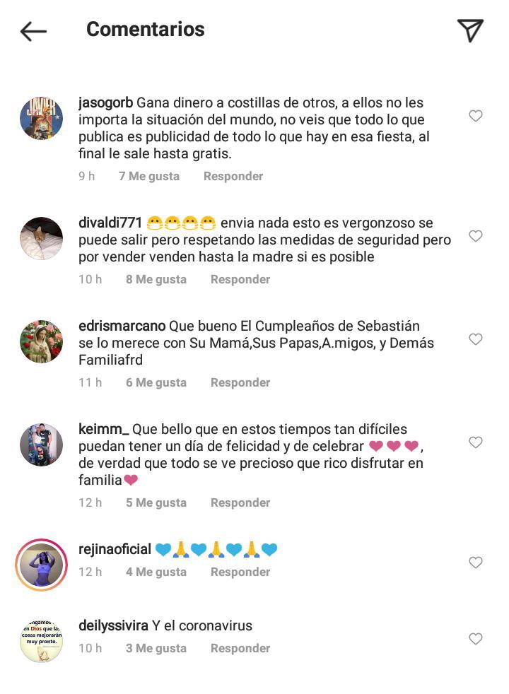 Críticas a Norkys Batista por la fiesta de Sebastián-2