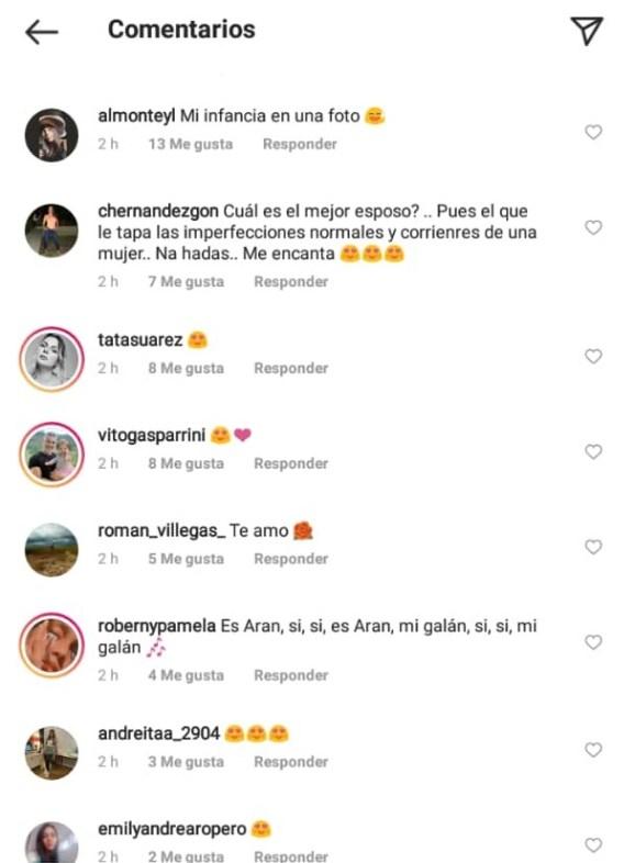 comentarios de fans de rosmeri y aran