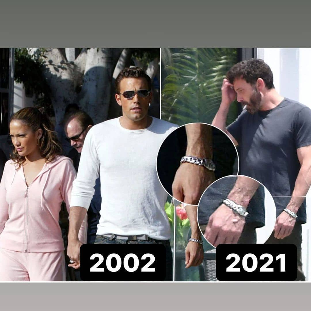 Ben affleck usando el reloj que le regaló Jennifer Lopez en el 2002