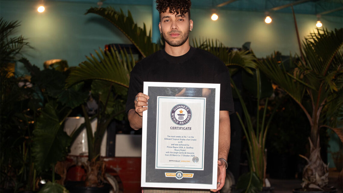 Guinness World Records (GWR), la autoridad mundial en récords, recientemente honró a Prince Royce