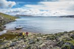 Lago Quiroga – Big lake fishing and the larger of the two lakes on the ranch. Very similar to Lago Strobel in size and style of fishing. Fishes well in November and December.
