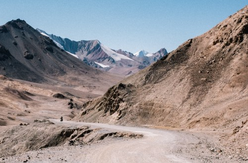 Descending from the Ak-Baital pass in Tajikistan