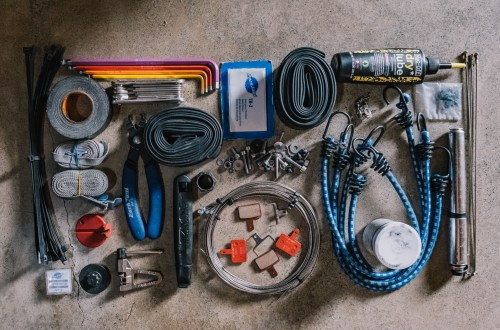 Overview of our bikepacking tool kit
