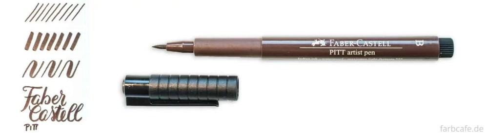 Faber Castell Pitt Artist Brush Pen Strichvergleich für Brushlettering