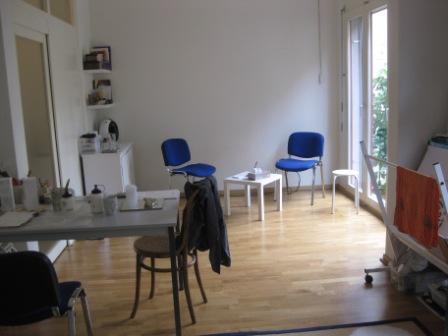 Innenansicht Praxis Atelier farbenfroh Zürich