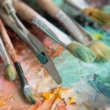 offenes Malatelier Praxis Atelier farbenfroh