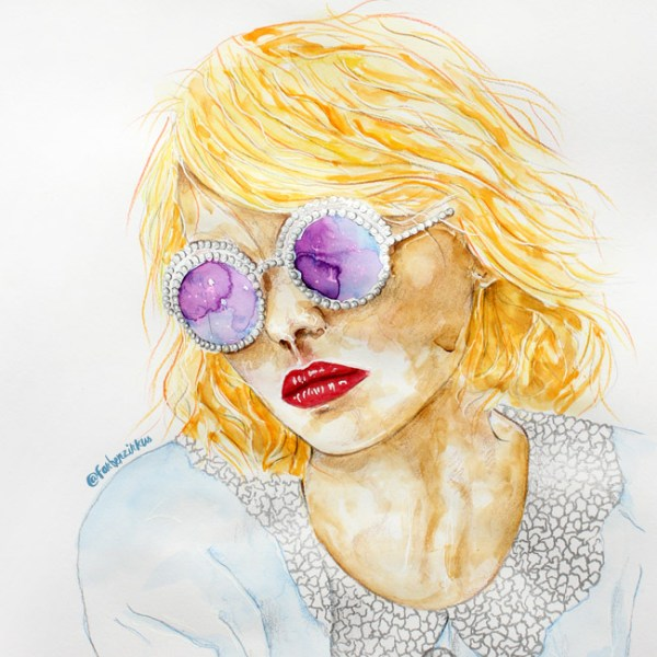 Lily-Rose Melody Depp Chanel Eyewear Glasses Galaxy