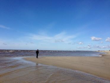 am Strand von Pärnu.....