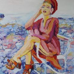 Pia Hällström - utställning på Farbror Nikos café & galleri