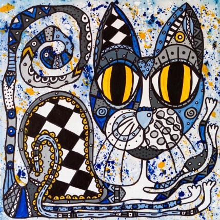 Blue belle - tavla av Katja Wulff