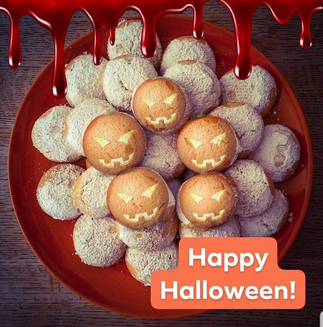 Grekiska mandelkakor / kourabiedes till Halloween