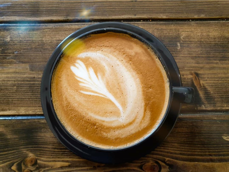 Cappuccino på Zoegas kaffe Dark Zenith