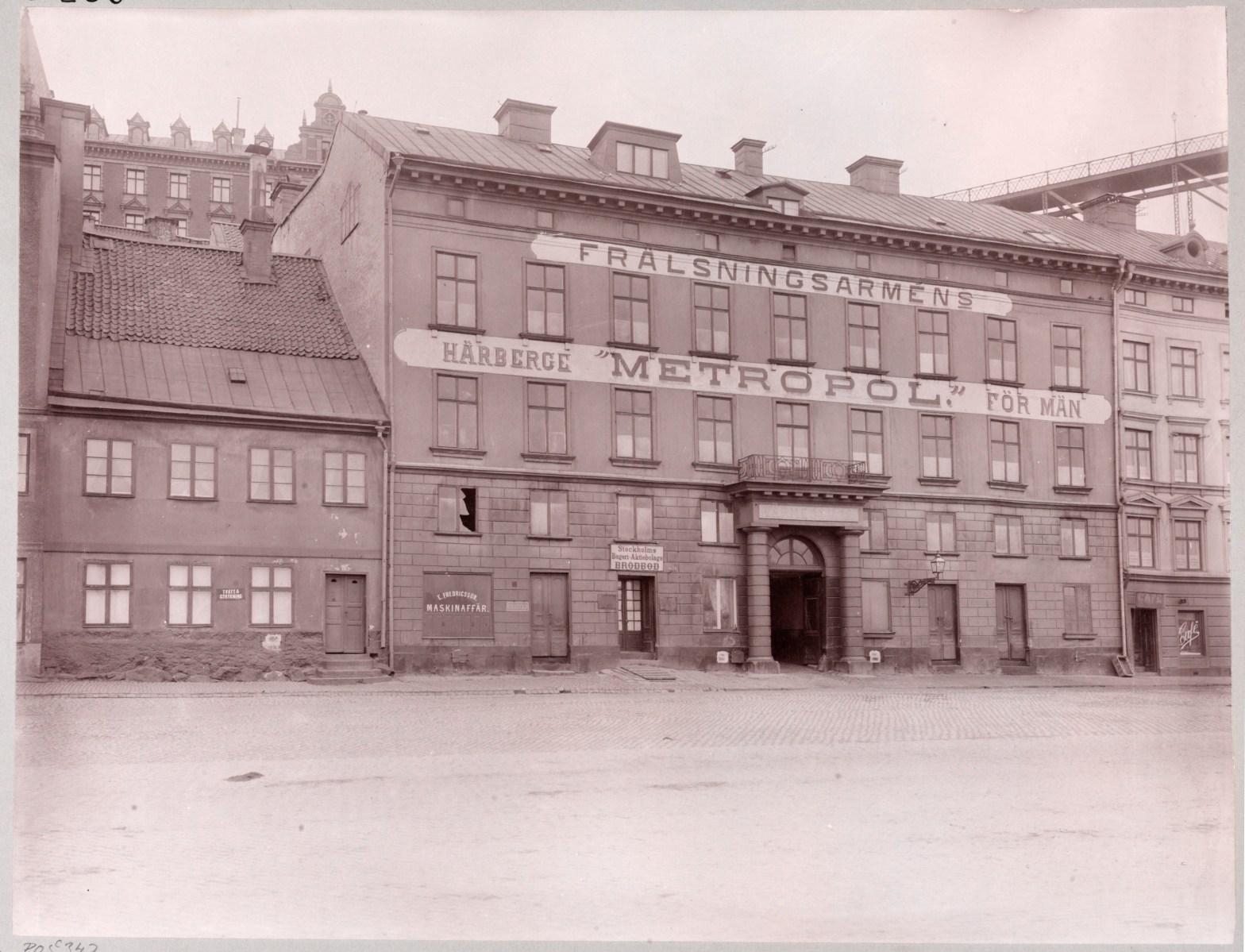 Historiska kvarteret Tranbodarne vid Slussen på Södermalm