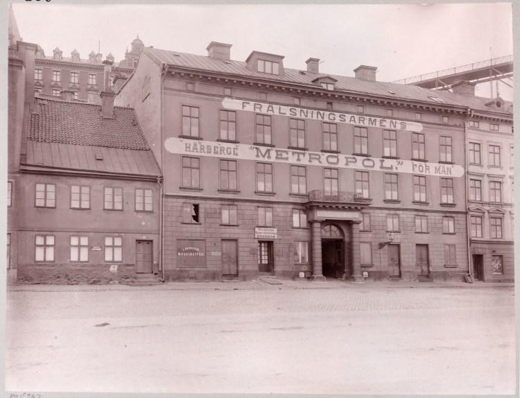 Historiska kvarteret Tranbodarne vid Slussen
