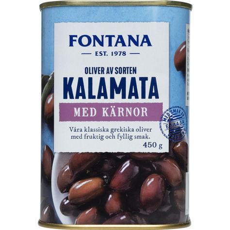 Kalamataoliver med kärnor från Fontana