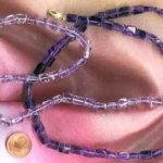 lila und violetter Amethyst