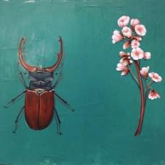 Hirschkäfer Acryl auf Holz Stag-beetle, Acrylic on wood