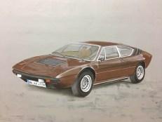 Lamborghini Acryl auf Holz Acrylic on wood