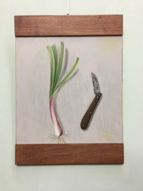 Mein Vaters altes Messer 2, Acryl auf Holz ca 21x32cm My fathers knife 2
