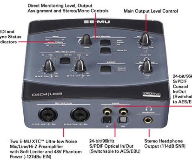 The Creative E Mu 0404 Usb Audio Midi Interface Measures 184xmm And Weighs Approximately 0 764kg The E Mu 0404 Usb Is Available For Approximately