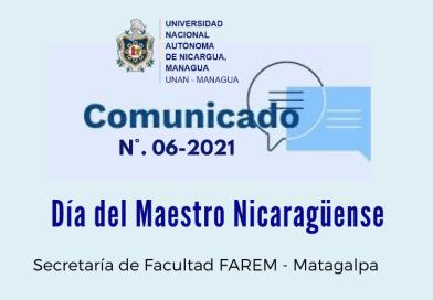 Comunicado Oficial No. 06-2021