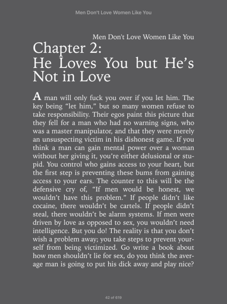 Men Don't Love Women Like You - A Must Read