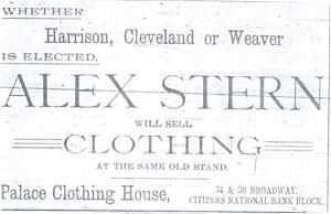 Stern ad November 9, 1892