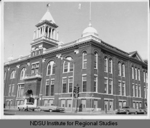 Masonic Temple, Fargo, N.D. Taken in 196-? Built in 1899. North Dakota State University Libraries, Institute for Regional Studies, Digital ID rs010766.
