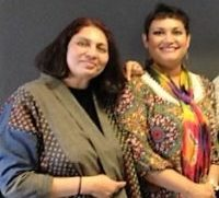 Dr. Farhana Sultana with Dr. Chandra T. Mohanty, renowned feminist scholar, at Syracuse University, 2012