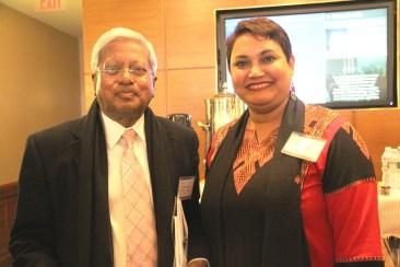 Dr. Farhana Sultana with Sir Fazle Hasan Abed, KCMG, the founder of BRAC, at Harvard University, 2015