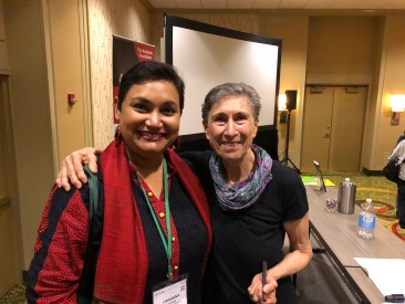 Dr. Farhana Sultana with Dr. Sylvia Federici, renowned feminist scholar, in New Orleans 2018