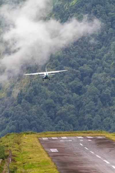 Flying into Lukla