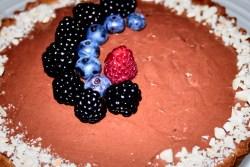 Crostata con ganache di cioccolato e mandorle, farinaeuova