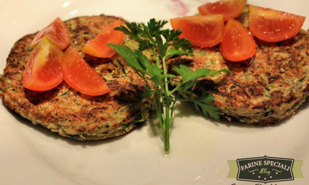 Hamburger con farina di grano saraceno e zucchine